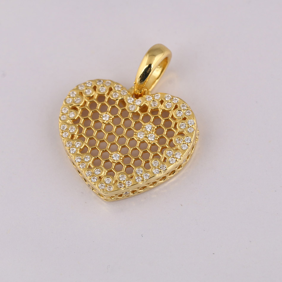 925 Silver Shine Honeycomb Lace Pendant Necklace For Women Gold Colour  Silver Dangle Fashhion Choker Fit Lady Jewelry For 2019 Heart Honeycomb Lace Pendant Necklaces (View 2 of 25)