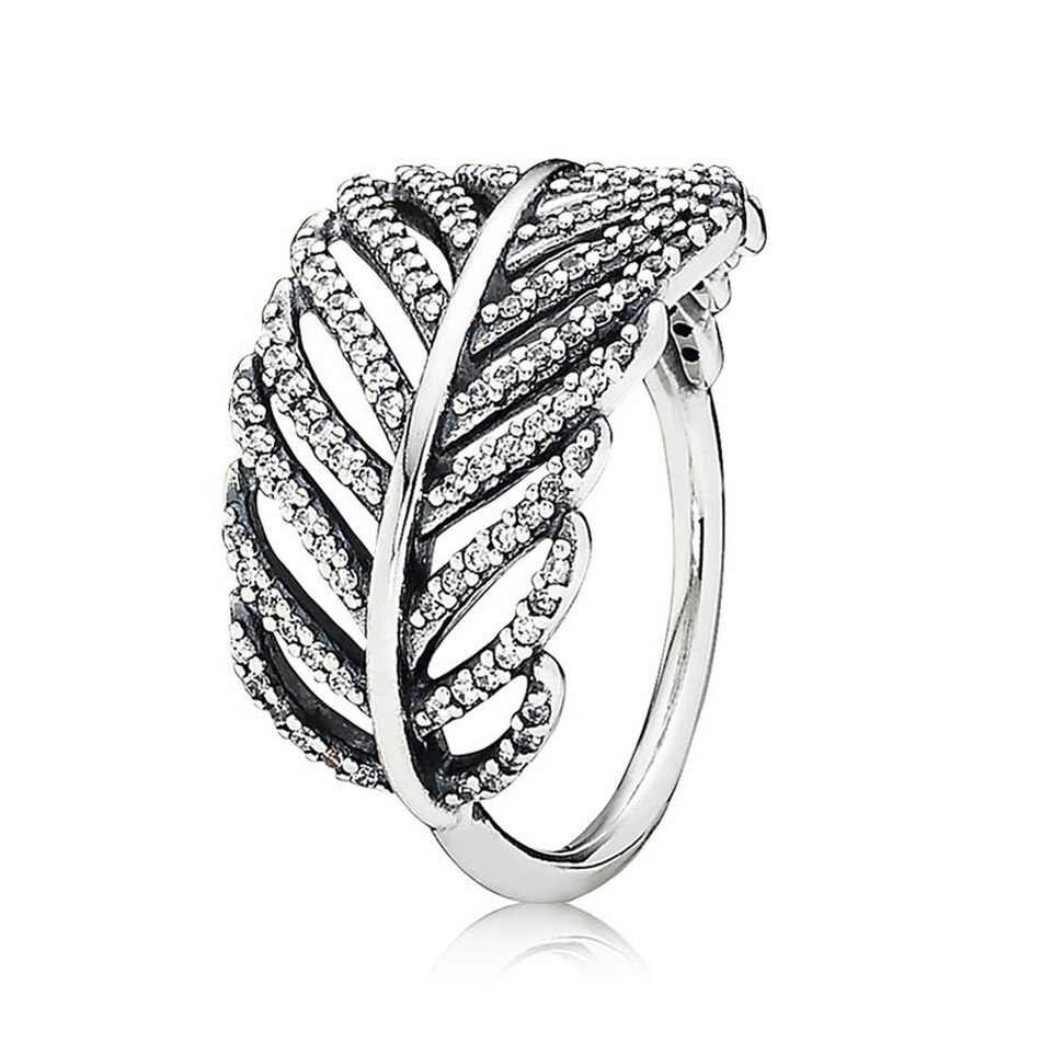 925 Silver Wildflower Meadow Ring For Women Light As A Feather Delicate Sentiments Floral Fancy Ring Fit Lady Jewery With Best And Newest Shimmering Feather Rings (View 3 of 25)