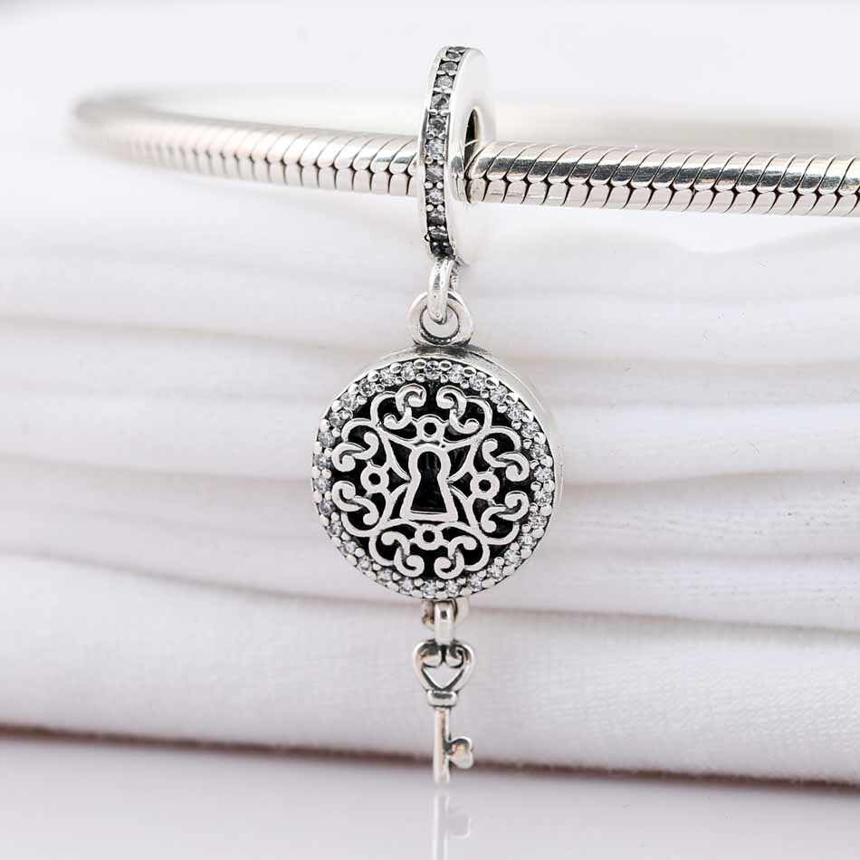 925 Sterling Silver Charm Openwork Key To My Heart Lock And Regal Key Pendant Beads Fit Pandora Bracelet & Necklace Diy Jewelry In Recent Regal Key Pendant Necklaces (View 15 of 25)