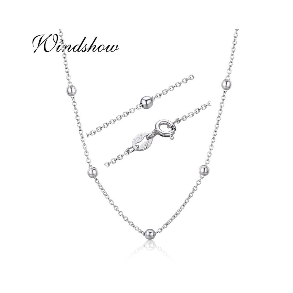 925 Sterling Silver Cross Beaded Chain Choker Necklaces Women Girls 40Cm  45Cm Jewelry Kolye Collares Collane Collier Ketting Length 70Cm With Regard To Most Recent Beaded Chain Necklaces (View 4 of 25)