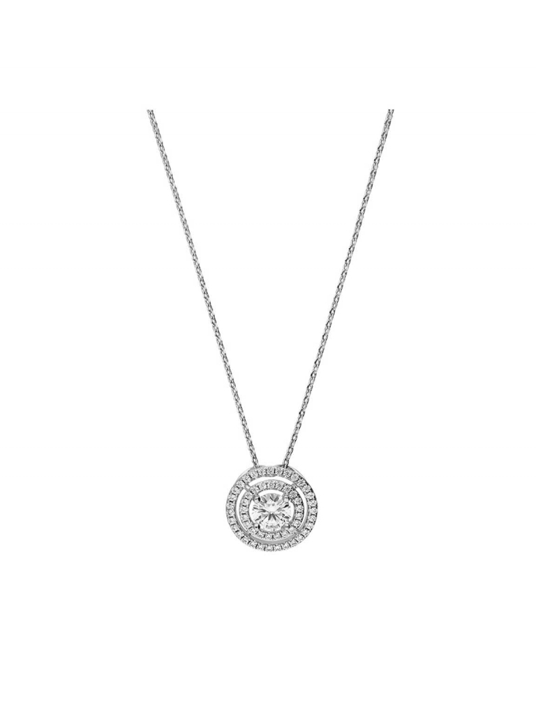925 Sterling Silver Rhodium Plated Dazzling Pendant Necklace, Cubic Regarding Newest Dazzling Locket Pendant Necklaces (View 2 of 25)