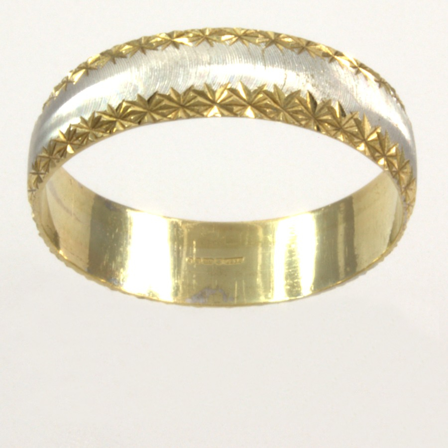 9ct Gold Band Ring Size O½ In 2018 Simple Sparkling Band Rings (View 15 of 25)