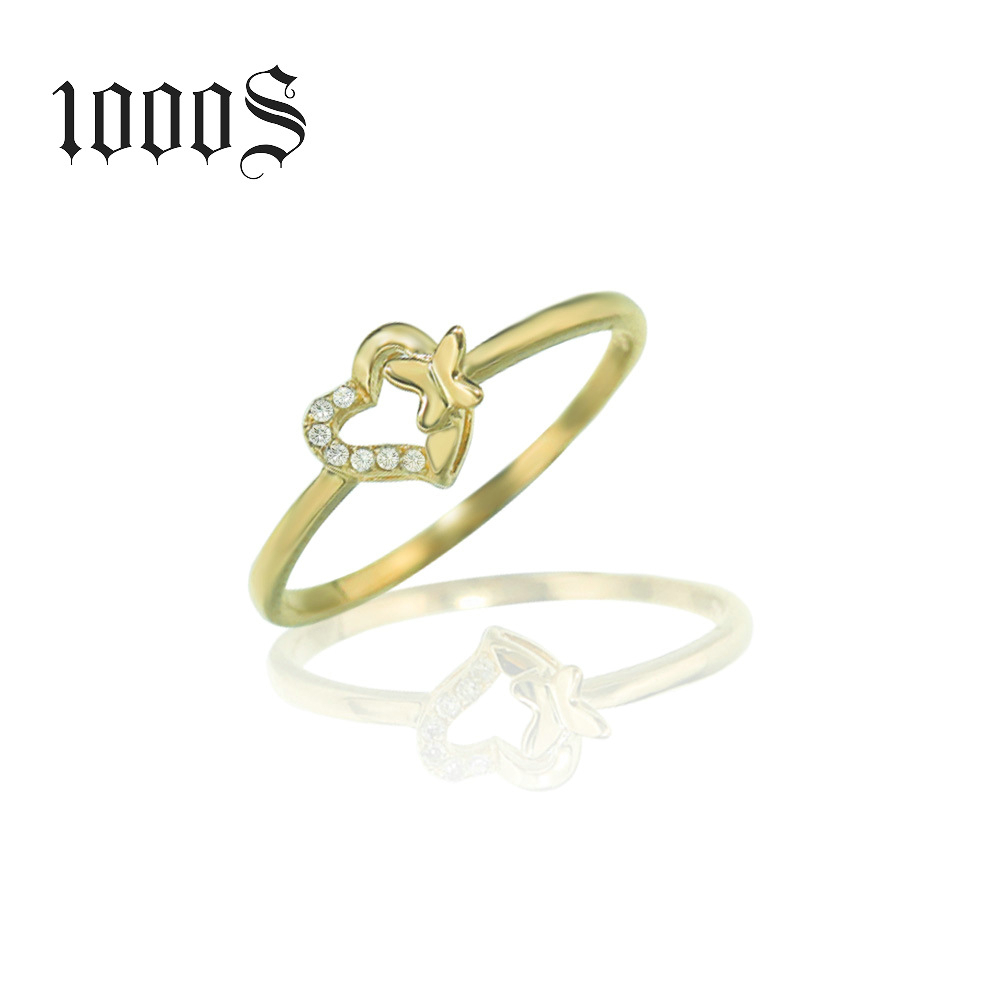 9K Italian Gold Jewelry 9K Gold Diamond Heart Shape Wedding Rings Jewelry –  Buy 9K 14K 18K Pure Gold With Cz Rings For Lady,9K Gold Jewelry Simple With Latest Diamond Heart Shaped Anniversary Bands In Gold (View 6 of 25)