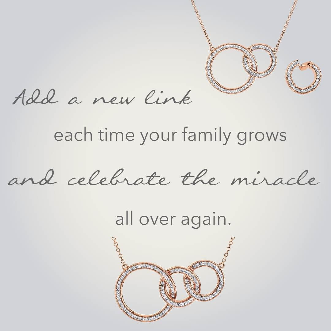 A Miracle Links Necklace Is A Beautiful, Sentimental Gift That Can Within 2020 Family Script Locket Element Necklaces (View 3 of 25)