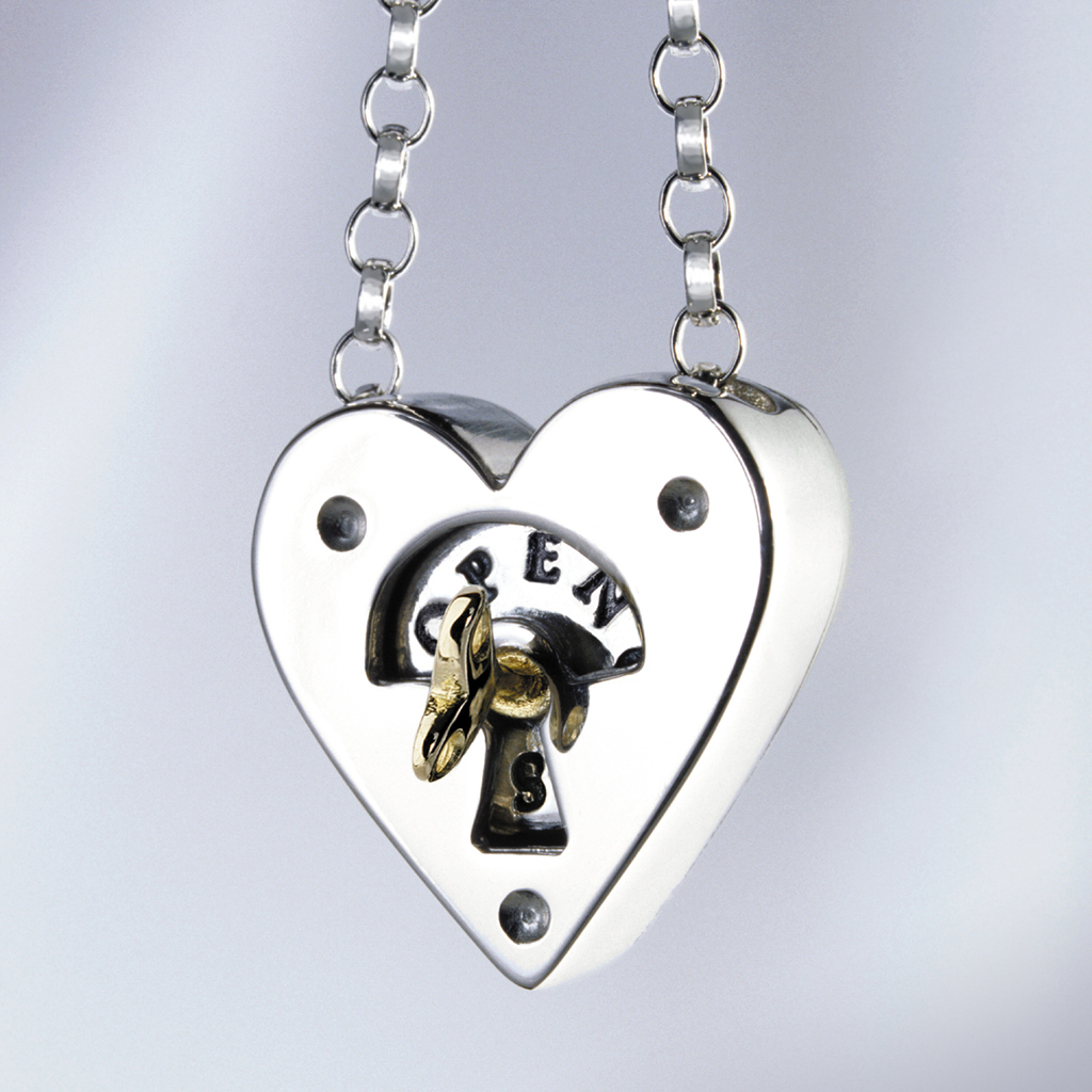 Alan Ardiff – Key To My Heart Pendant With Most Up To Date Heart Padlock Locket Element Necklaces (View 3 of 25)