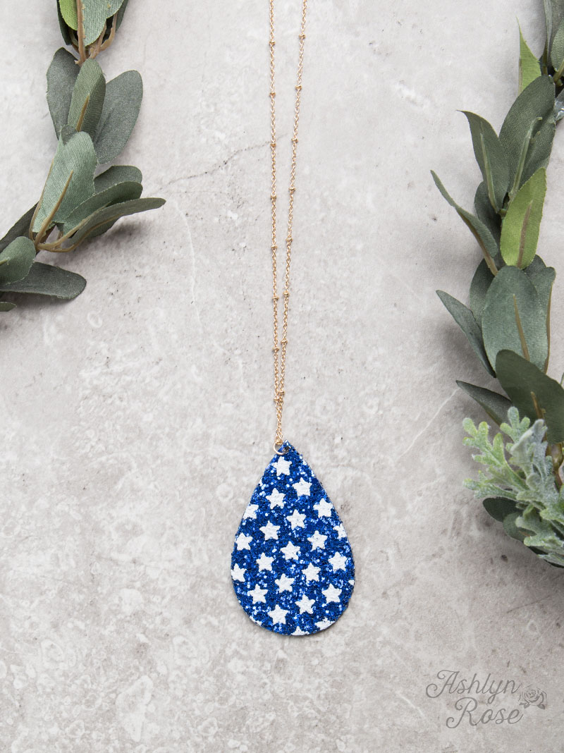 All Jewelry :: Necklaces :: Star Spangled And Sparkling Drop With Most Current Sparkling Pattern Necklaces (View 14 of 25)