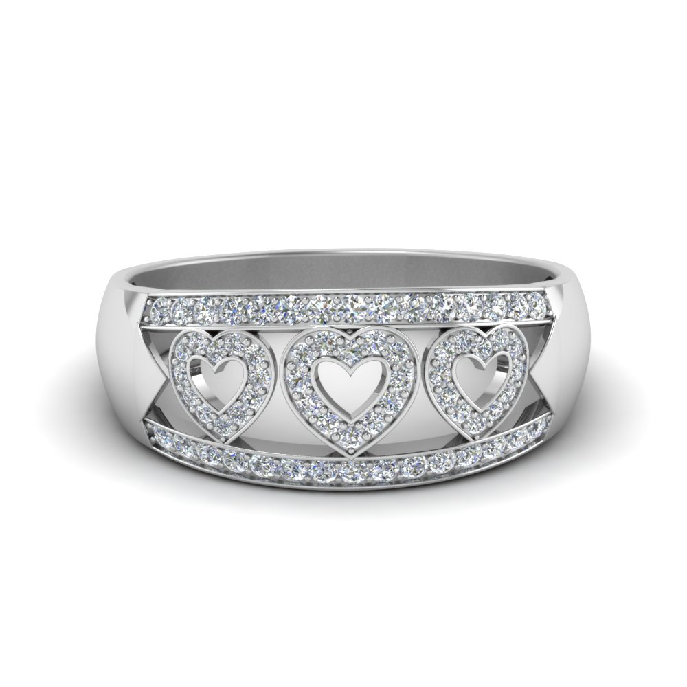 Allied Hearts Band With Regard To Best And Newest Band Of Hearts Rings (View 5 of 25)