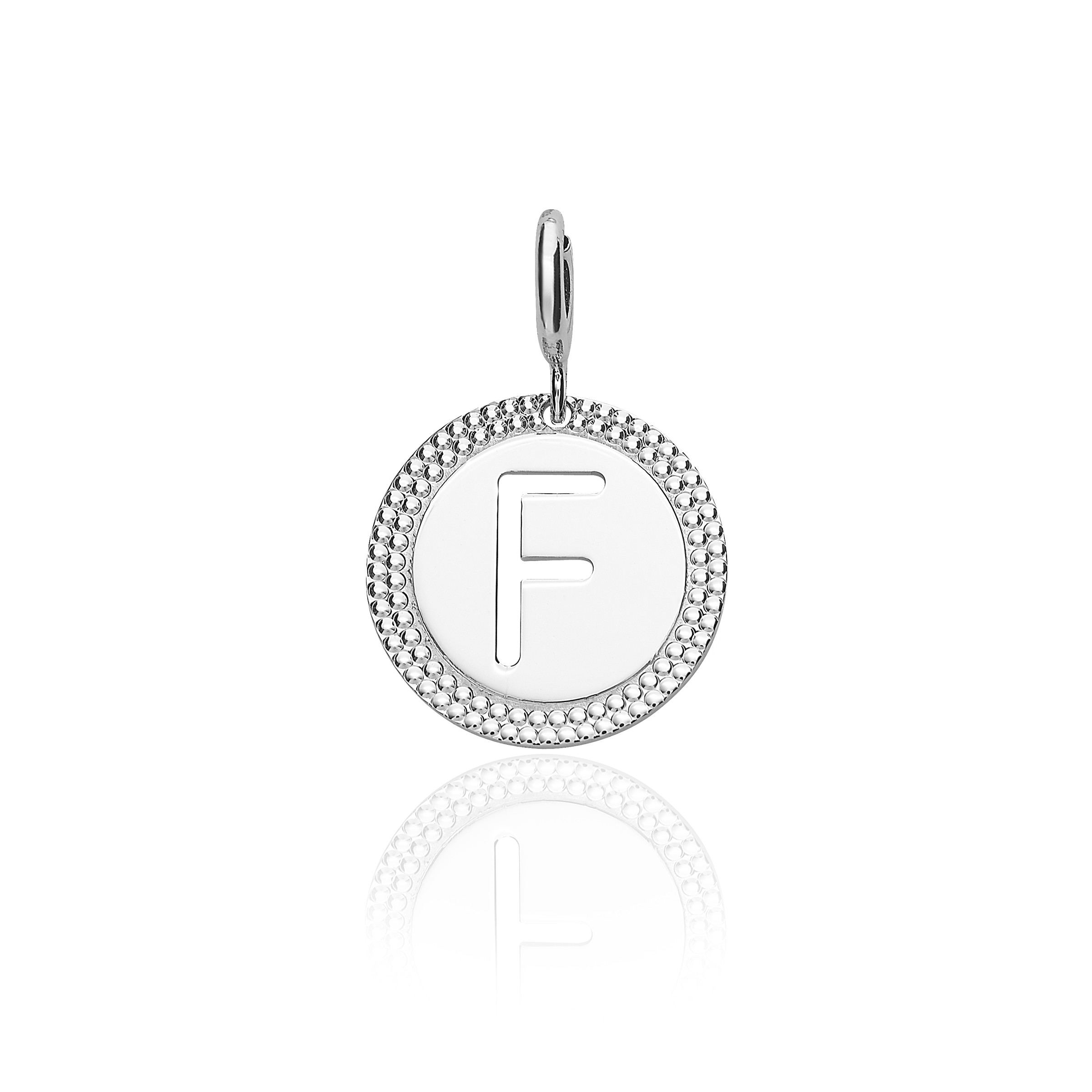 "Alphabet Pendant Letter ""f"" Pertaining To Most Current Letter W Alphabet Locket Element Necklaces (View 1 of 25)"