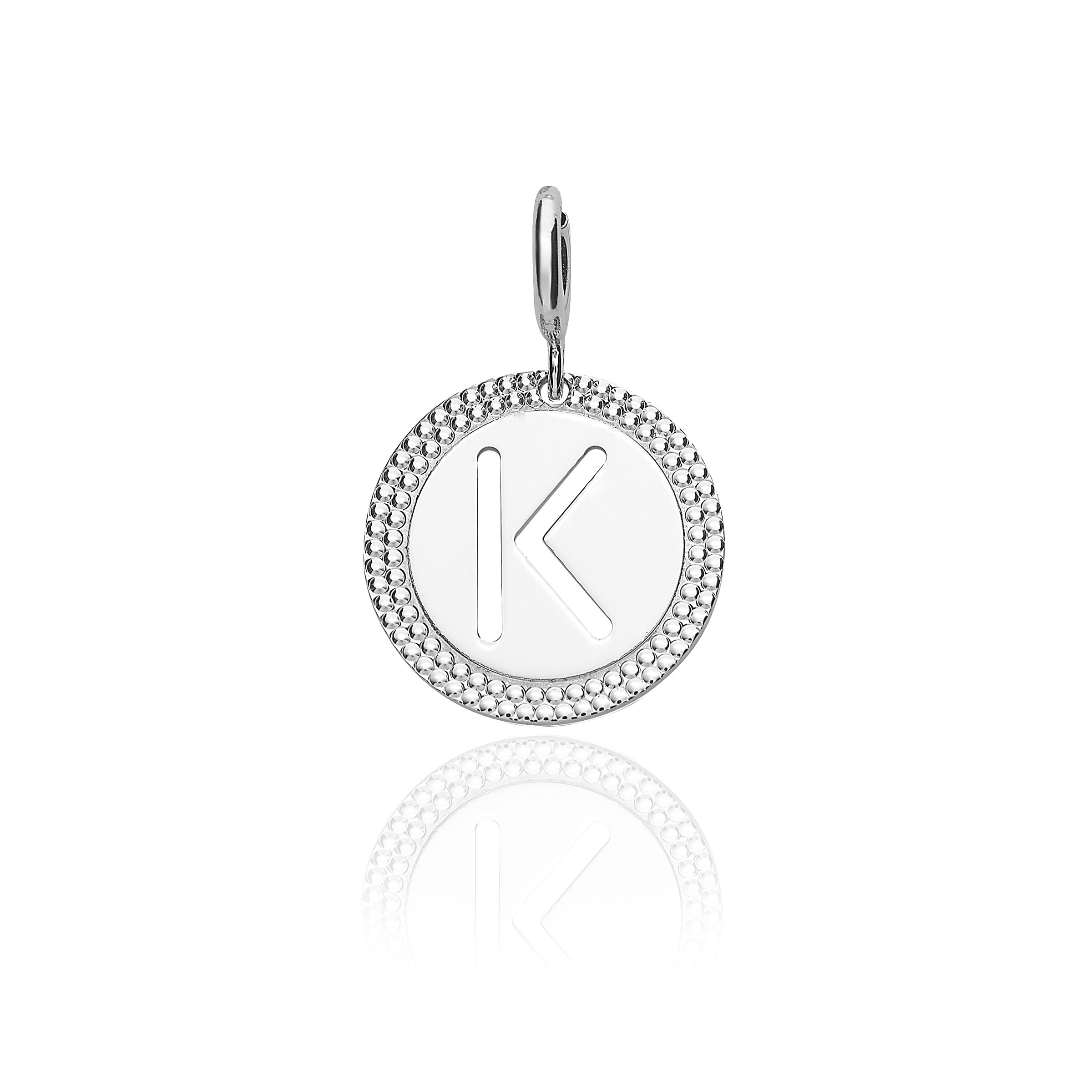 "Alphabet Pendant Letter ""k"" With Most Recent Letter K Alphabet Locket Element Necklaces (Gallery 1 of 25)"