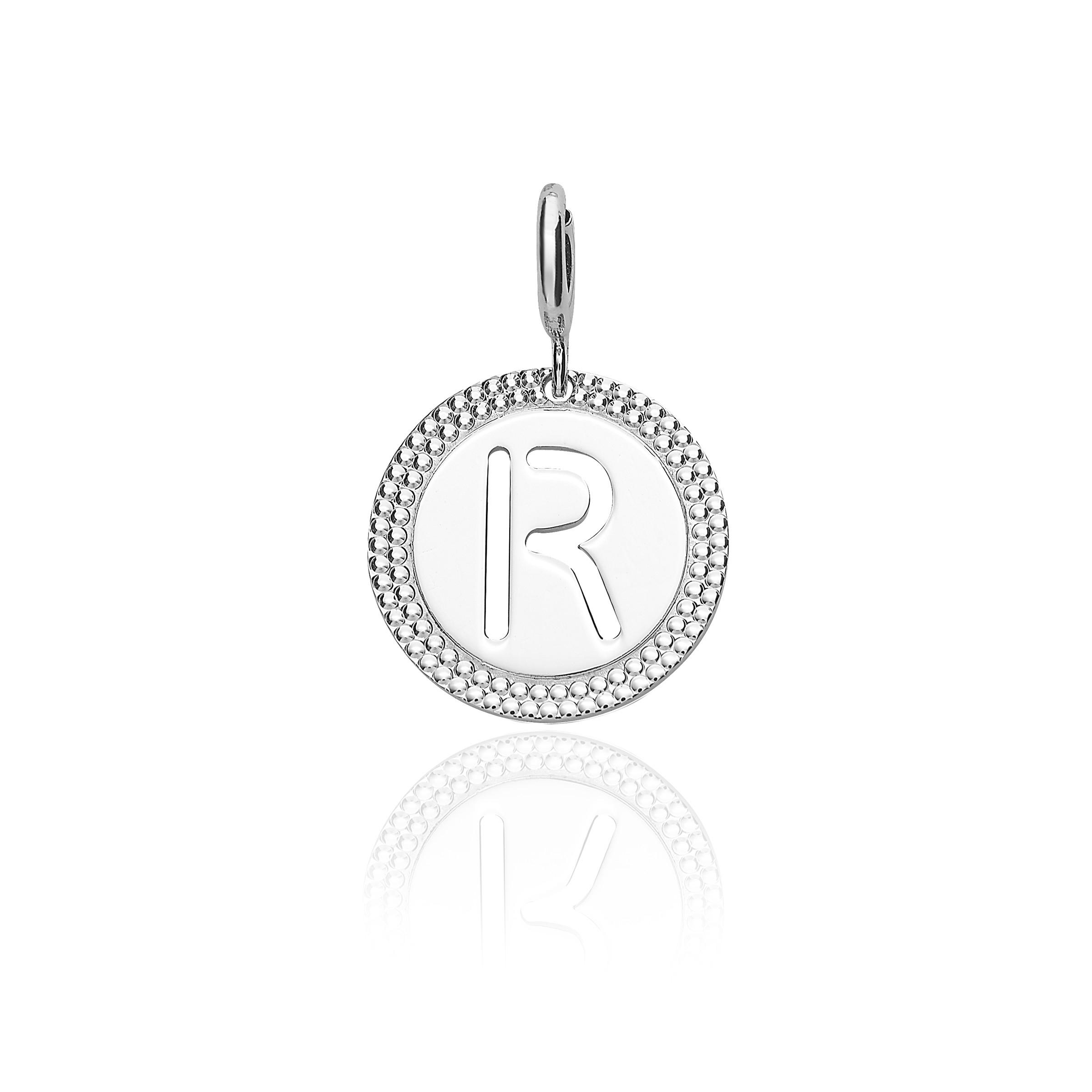 """Alphabet Pendant Letter """"r"""" Regarding Current Letter R Alphabet Locket Element Necklaces (View 5 of 25)"""
