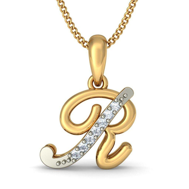 Alphabet Pendants In Gold, R Alphabet Locket Design, Gold Pendant For Latest Letter K Alphabet Locket Element Necklaces (View 6 of 25)