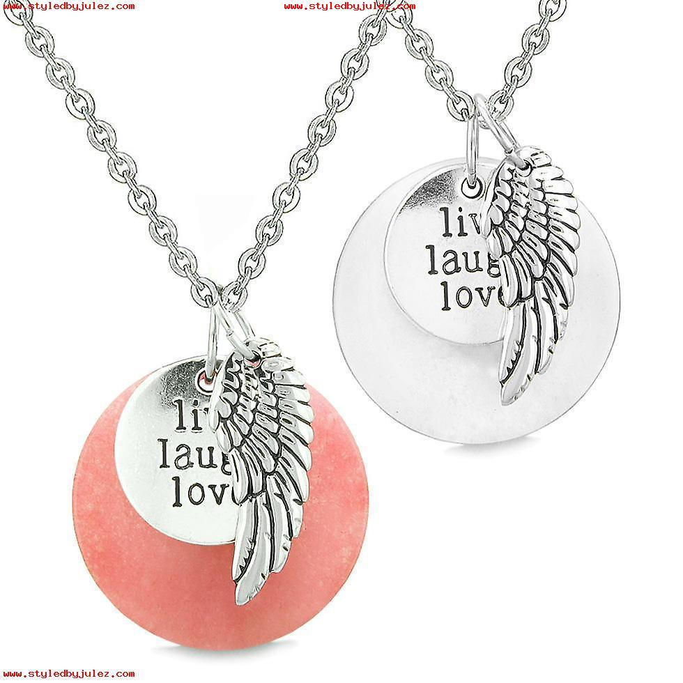 Amulet Angel Wing Onyx Medallion White Swarovski Element Heart Lucky With Best And Newest Pavé Angel Wing Locket Element Necklaces (View 2 of 25)
