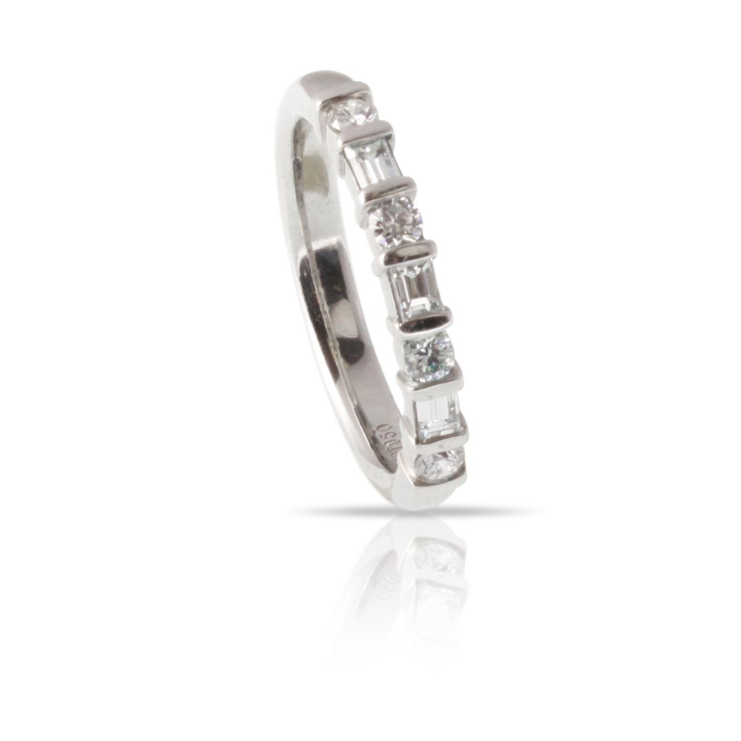 An Anniversary Band Stunning Enough To Wear On Its Own With Inside Most Recent Baguette And Round Diamond Alternating Vintage Style Anniversary Bands In White Gold (View 12 of 25)