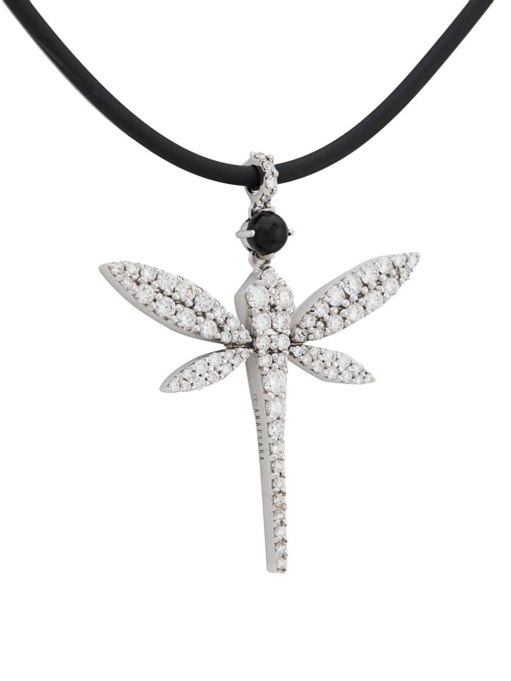Anapsara 18Kt White Gold Dragonfly Diamond Pendant Necklace – Farfetch With Regard To Best And Newest Sparkling Dragonfly Y  Necklaces (View 2 of 25)