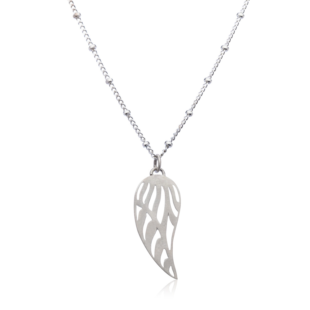 Angel Wing Necklace Small | Sterling Silver In Most Recent Angel Wing Pendant Necklaces (View 5 of 25)