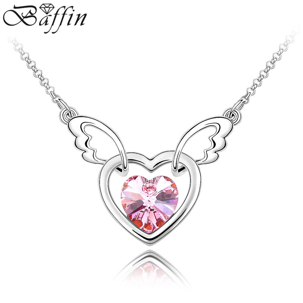 Angel Wing Pendant For Christmas Gift Crystal Necklace Made With Swarovski  Elements New Fashion Jewelry Accessories For Most Popular Pavé Angel Wing Locket Element Necklaces (View 5 of 25)