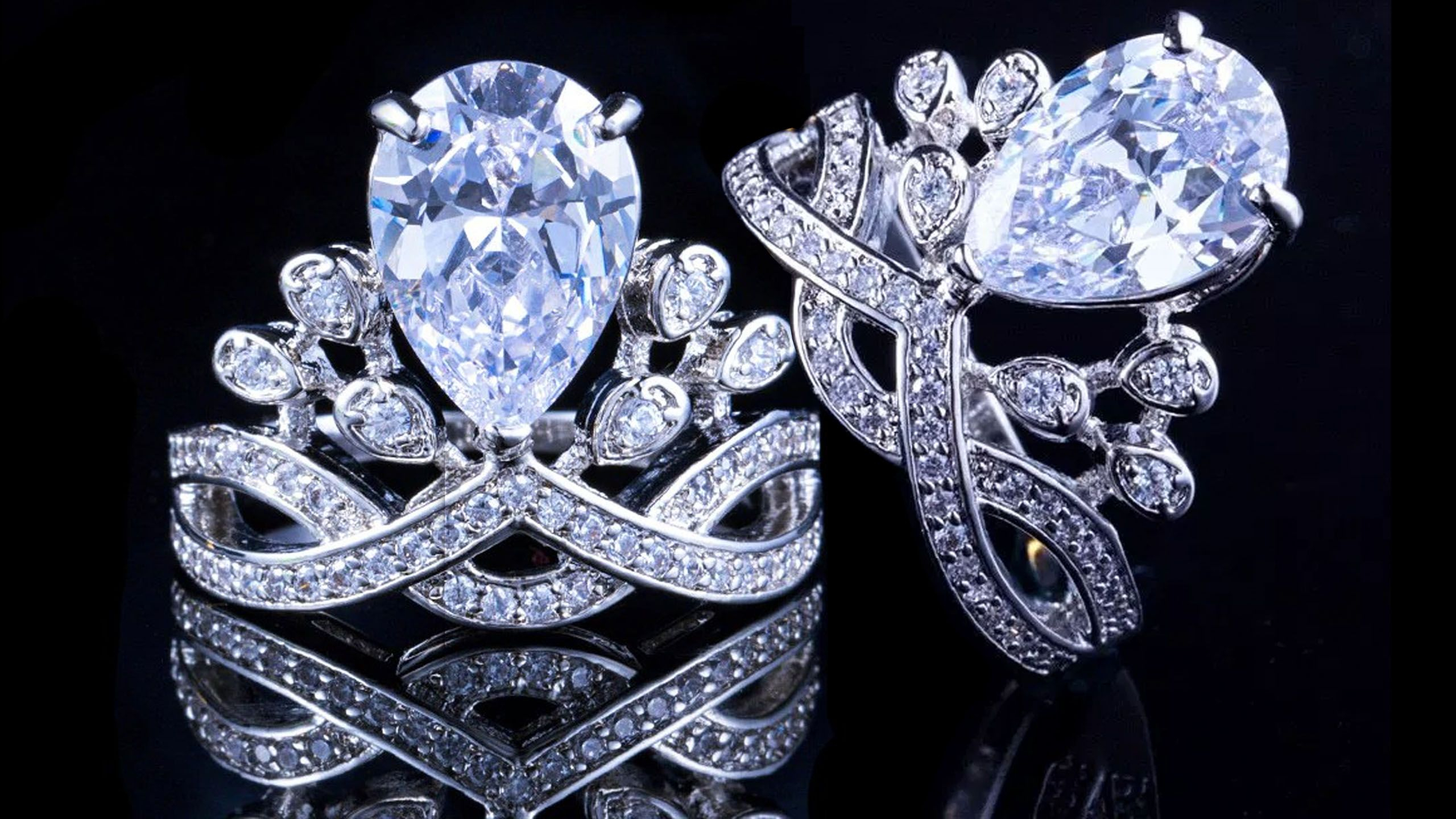 Angela – Luxury Oval Crown Ring   Peridotpalace Rings   Rings, Crown With Regard To 2018 Clear Sparkling Crown Rings (View 8 of 25)