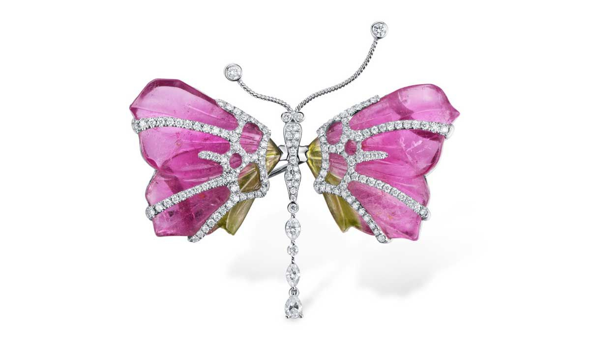 Animal Wings – Vo+ Jewels & Luxury Magazine Throughout Most Popular Pink Pavé Butterfly Collier Necklaces (View 16 of 25)