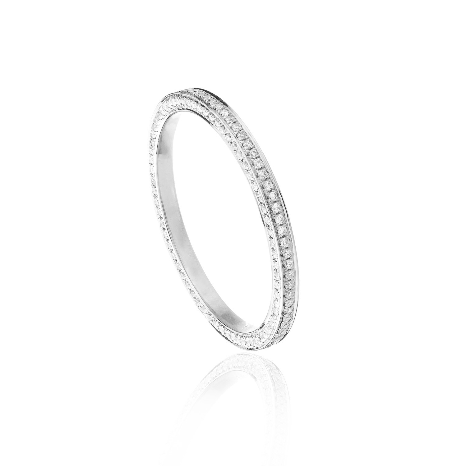 Anna 3D Eternity Ring Duchess In 18 Ct. White Gold With 214 White Diamonds  0.42 Ct (View 4 of 25)