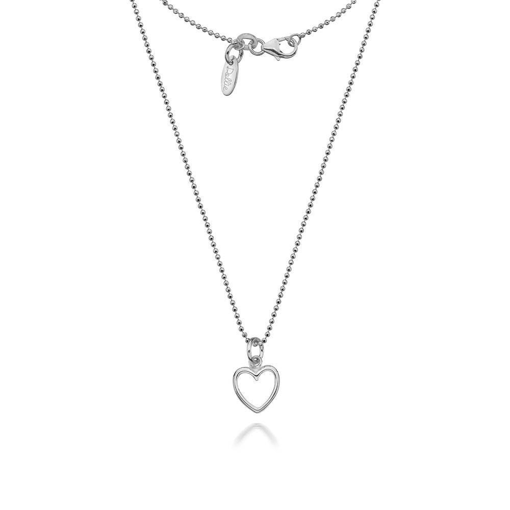 Annabelle Open Heart Necklace For 2019 Open Heart Necklaces (View 1 of 25)