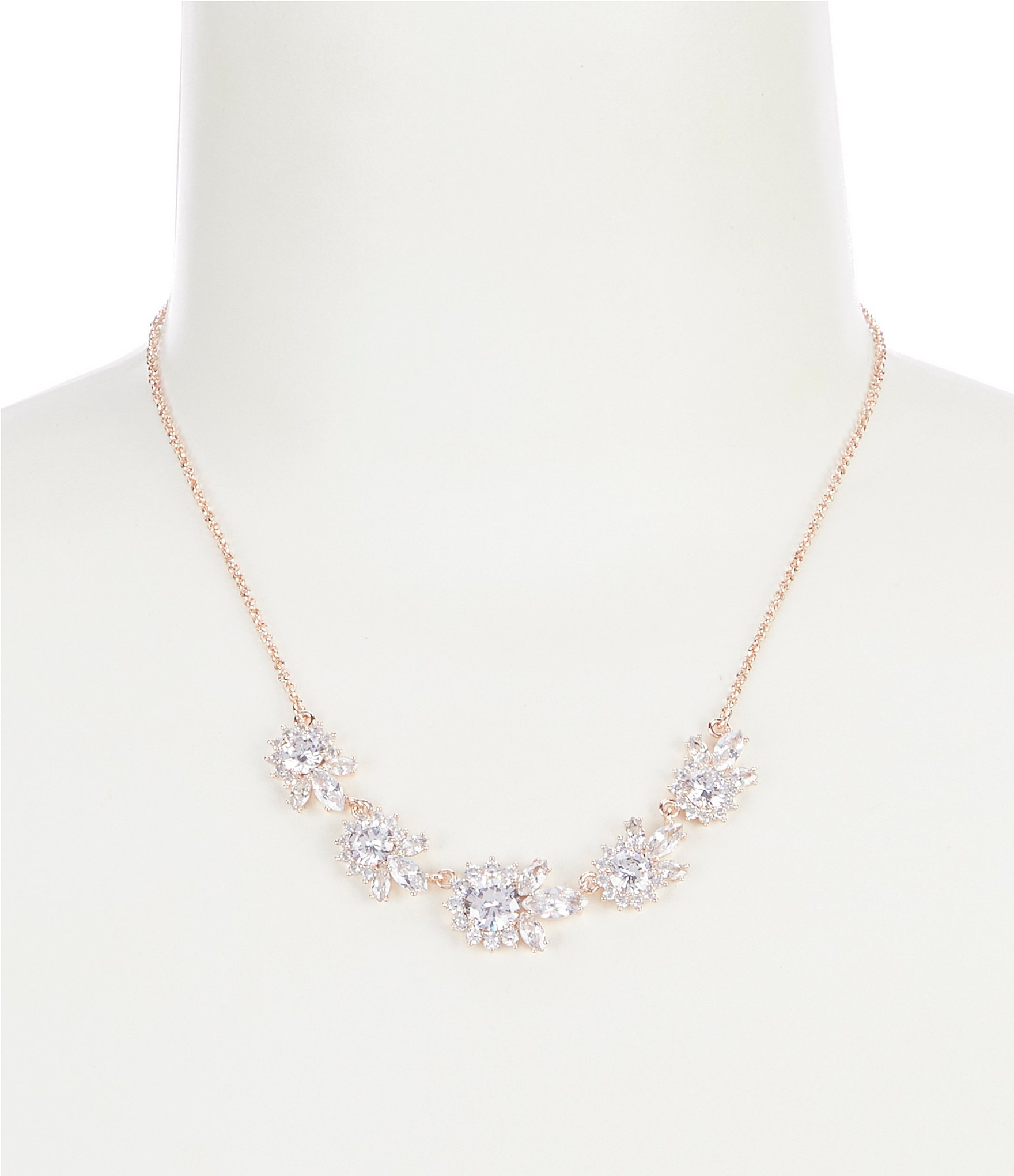 Anne Klein Cluster Frontal Necklace For Most Recent Sparkling Butterfly Y  Necklaces (View 6 of 25)
