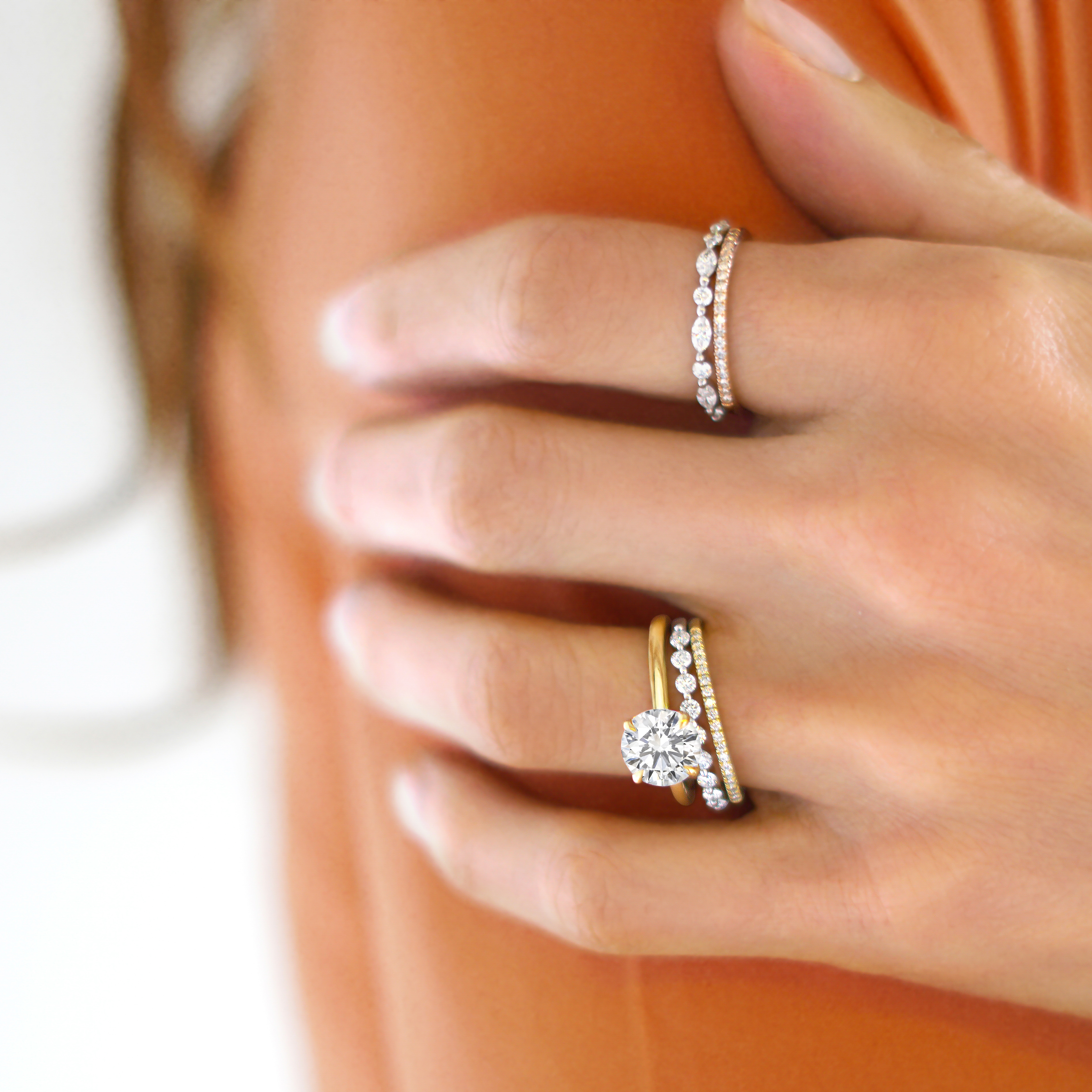 Anniversary Bands: What You Need To Know | Brilliant Earth Intended For Newest Diamond Vintage Style Three Row Anniversary Bands In White Gold (View 3 of 25)