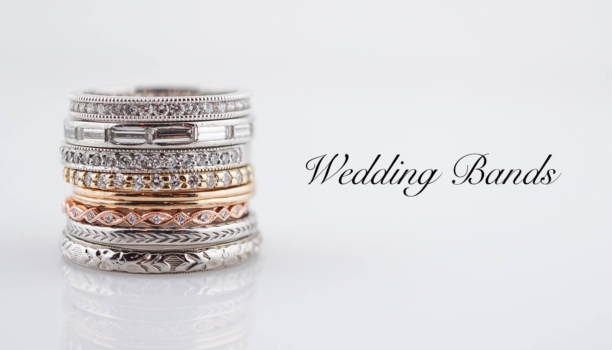 Antique Wedding Bands – Vintage Wedding Bands – Modern For Latest Round And Baguette Diamond Vintage Style Anniversary Bands In White Gold (View 8 of 25)