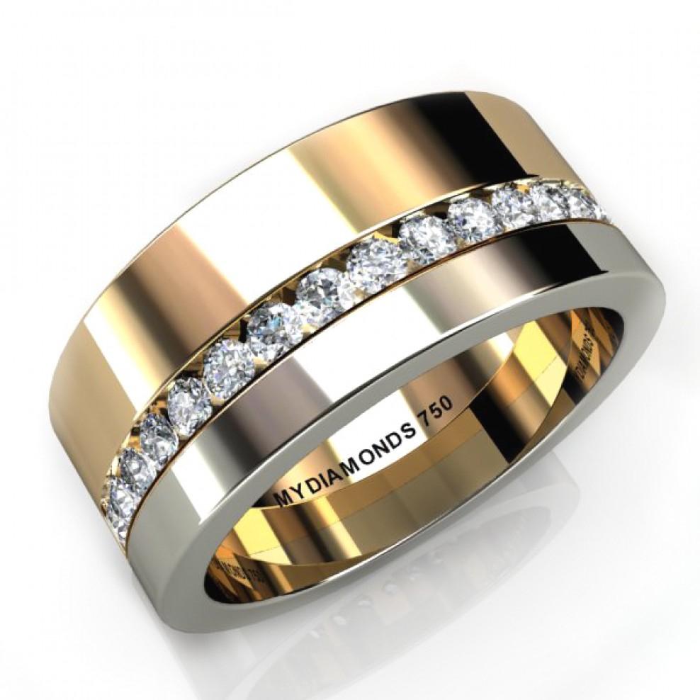 Aramis Men's Diamond Two Tone Ring – (View 17 of 24)