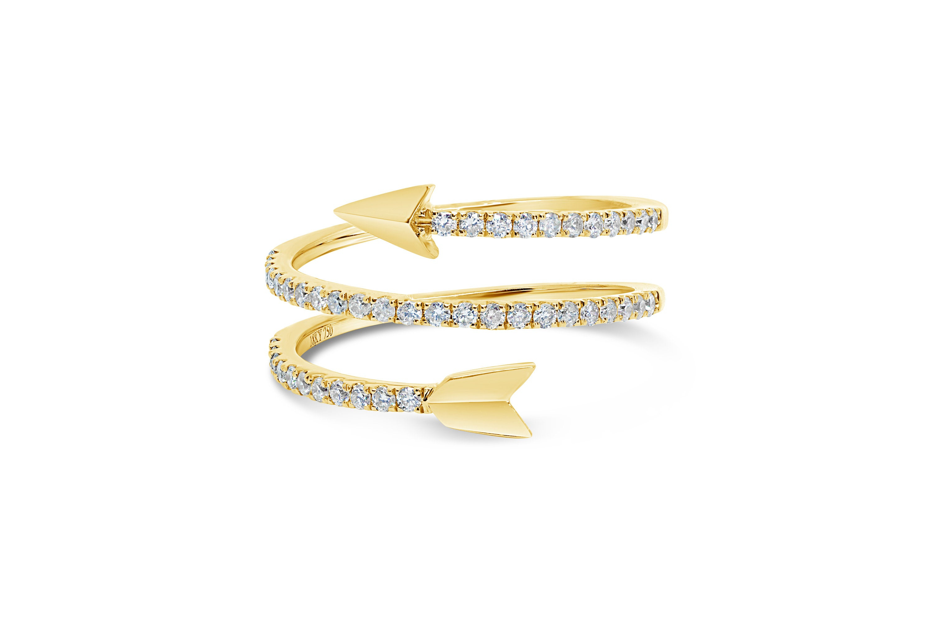 Arrow Ring Gold Arrow Ring Minimalist Ring Statement Ring Gold Wrap Ring  Unique Ring Wraparound Ring Twisted Diamond Ring Gold Ring Inside 2018 Wrap Around Arrow Rings (Gallery 23 of 25)
