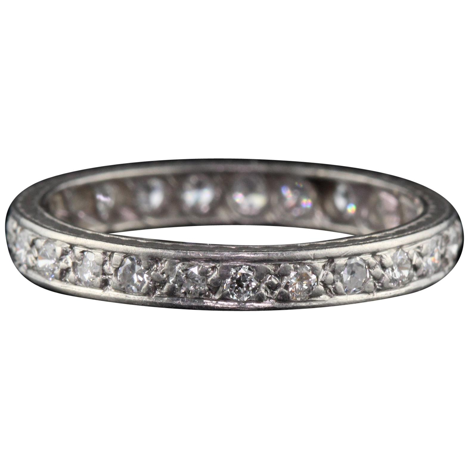 Art Deco Eternity Bands – 109 For Sale On 1stdibs For Most Popular Diamond Eternity Anniversary Vintage Style Bands In White Gold (View 17 of 25)