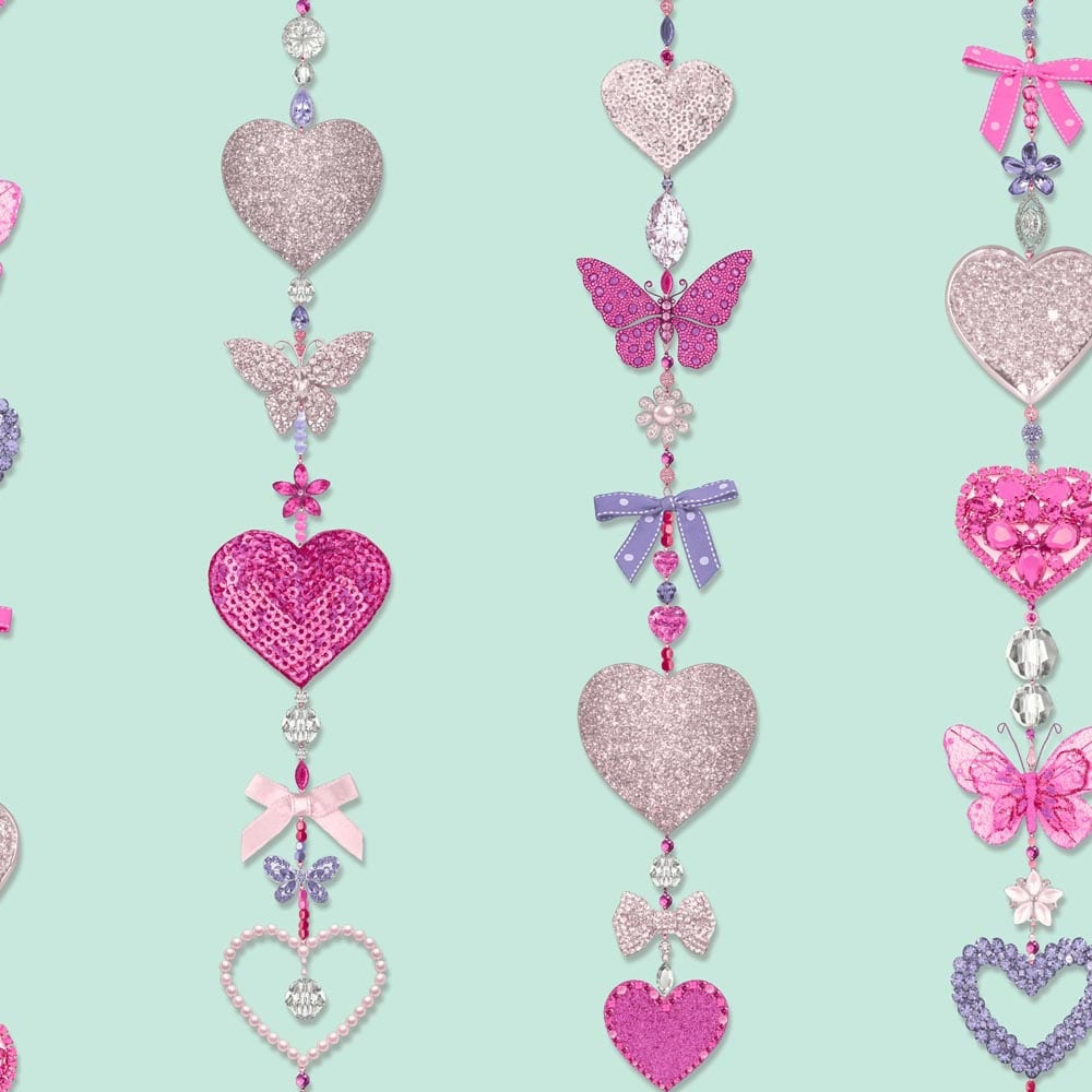 Arthouse Arthouse Tiffany Stripe Pattern Jewellery Necklace Glitter Bling Wallpaper 667900 Regarding Most Recent Sparkling Pattern Necklaces (View 17 of 25)