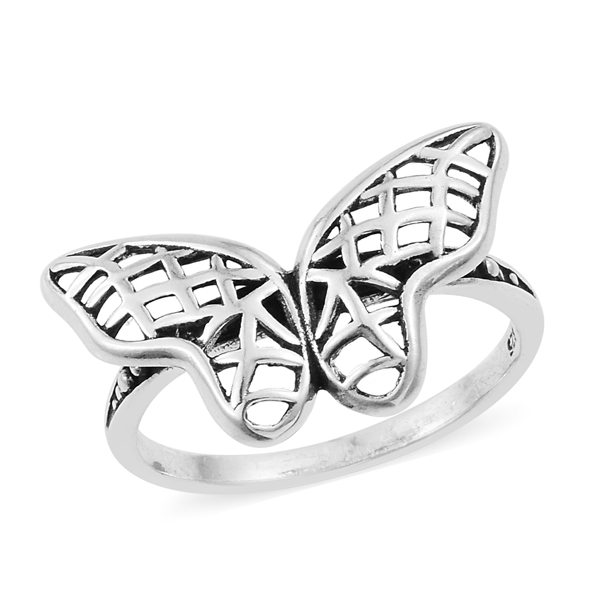 Artisan Crafted Openwork Butterfly Ring In Sterling Silver (size 9.0) (avg (View 3 of 25)