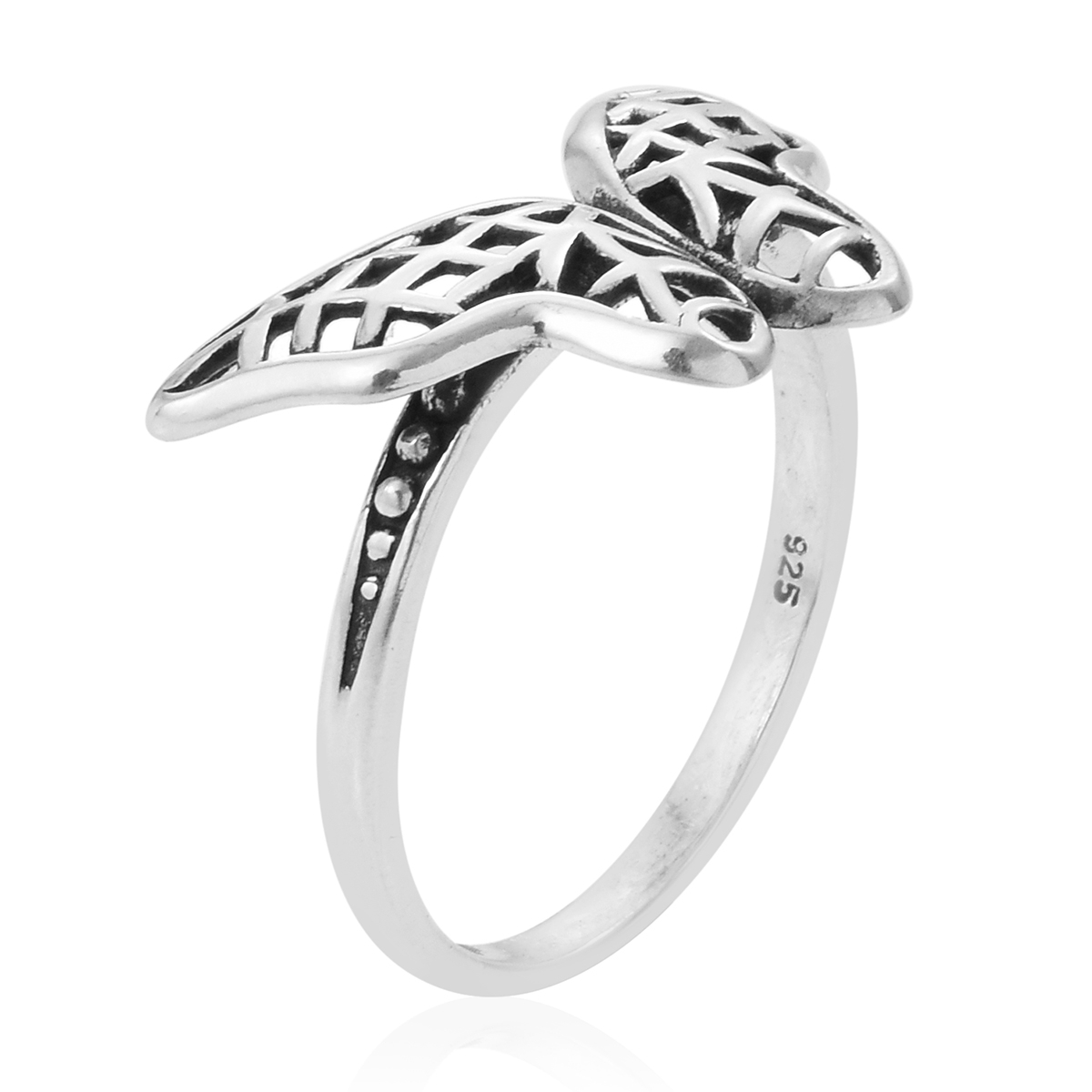 Artisan Crafted Openwork Butterfly Ring In Sterling Silver (size 9.0) (avg (View 6 of 25)
