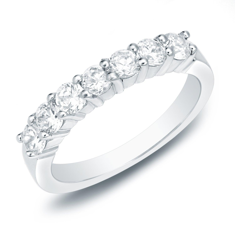 Auriya Round 3/4Ctw 7 Stone Diamond Wedding Anniversary Band 14K Gold With 2019 Diamond Seven Stone Anniversary Bands In Gold (View 13 of 25)