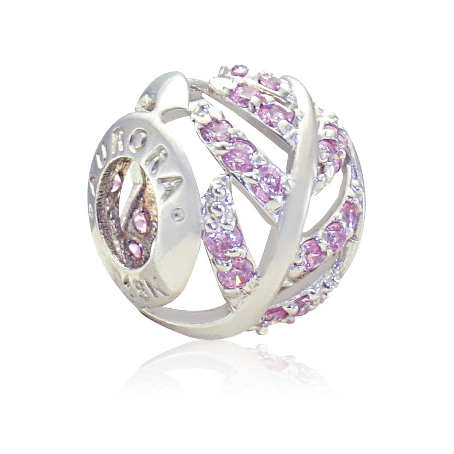 Aurora Italia Shimmering Feather 18k White Gold Charm In Latest Shimmering Feather Rings (View 18 of 25)