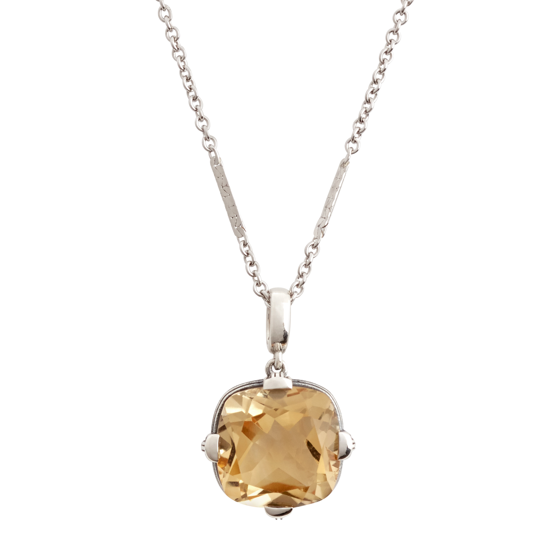 Aurora Lights Citrine Pendant Necklace In Best And Newest Sparkling Teardrop Chandelier Pendant Necklaces (View 13 of 25)