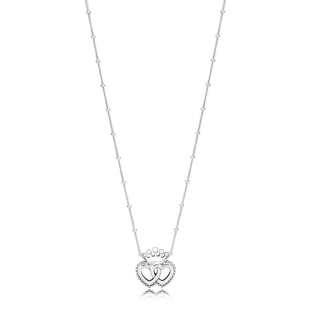 Authentic 925 Sterling Silver Original New United Regal Hearts Necklace For  Women Charm Bead Bangle Diy Jewelry Intended For Newest Joined Hearts Necklaces (View 4 of 25)