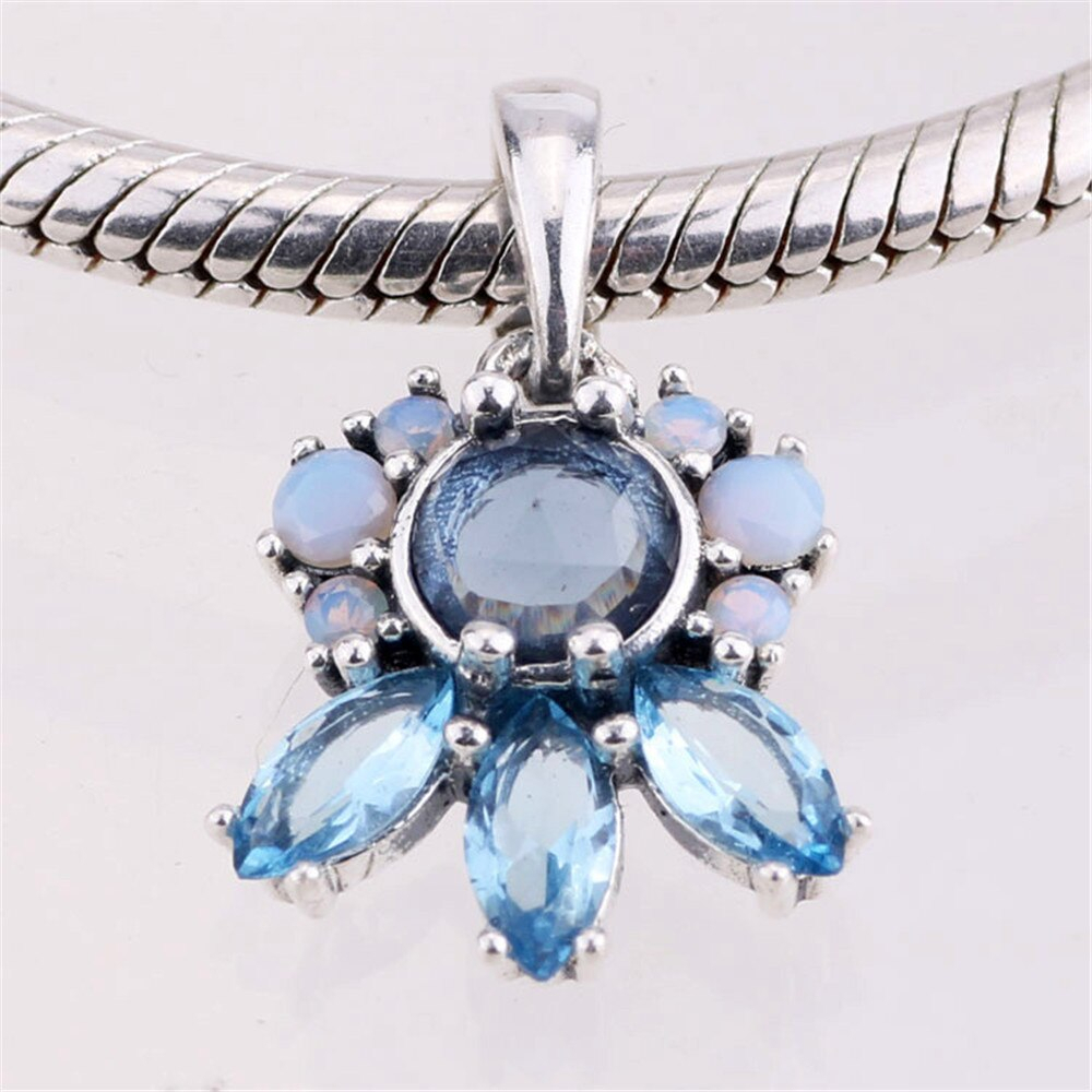 Authentic 925 Sterling Silver Patterns Of Frost, Multi Colored Crystal Pendant Charms Fit Brand Bracelets & Necklace Jewelry In Charms From Jewelry & Pertaining To Most Up To Date Multi Colored Crystal Patterns Of Frost Pendant Necklaces (View 3 of 25)