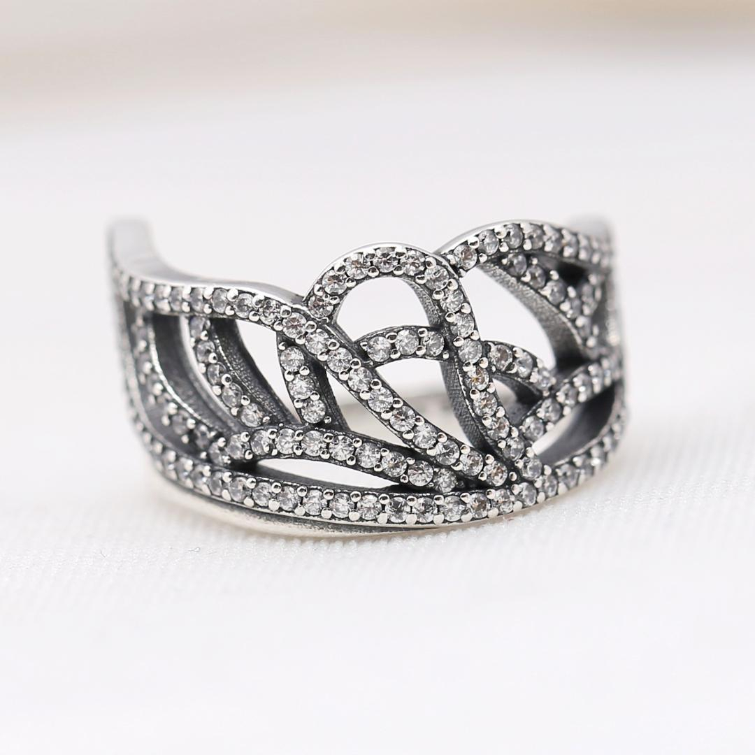 Authentic 925 Sterling Silver Ring Openwork Butterfly Wing Silver Ring With Crystal For Women Wedding Party Gift Fine Jewelry For Newest Openwork Butterfly Rings (View 10 of 25)