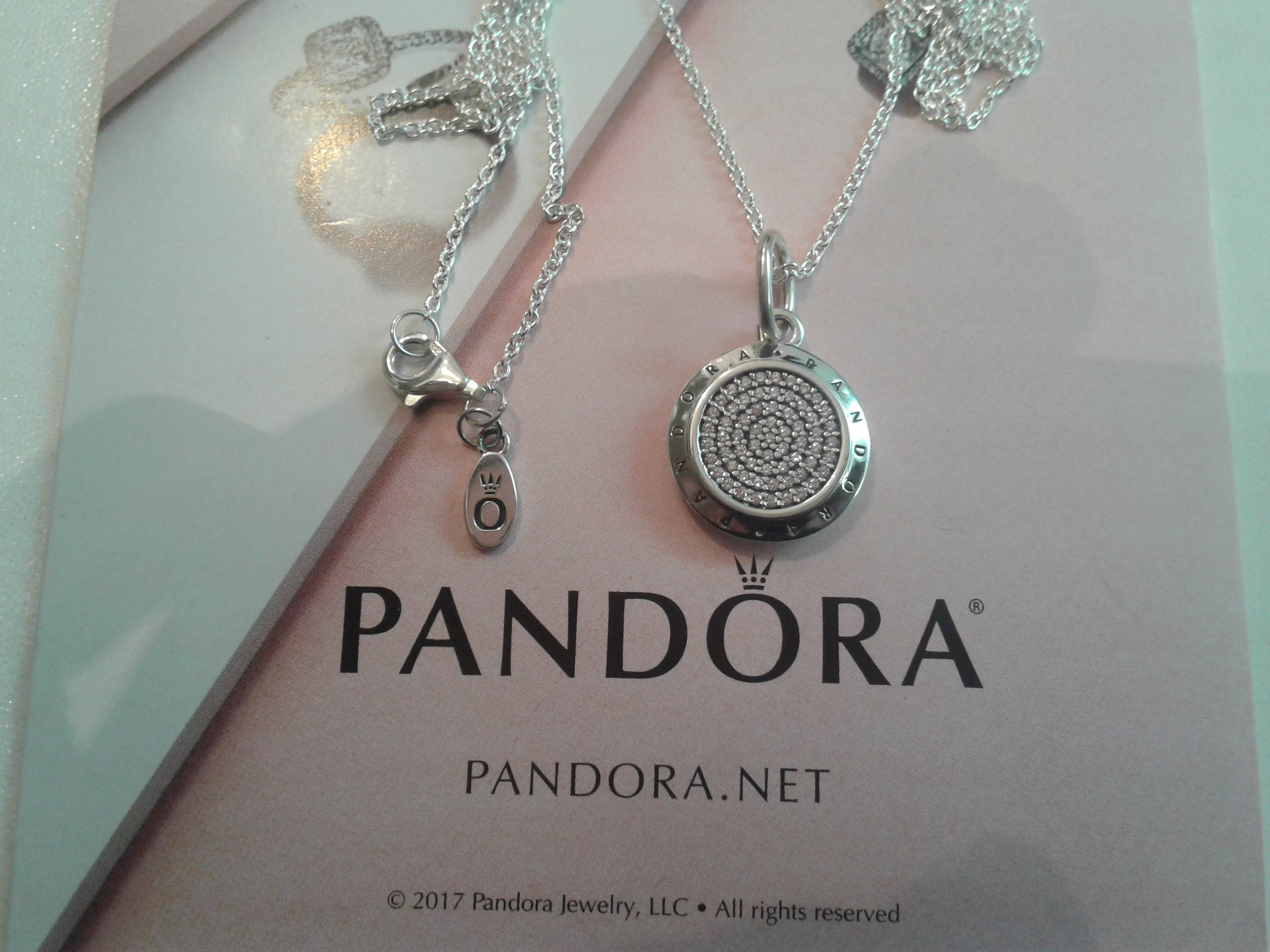 Authentic Pandora Logo Pendant In Sterling Silver With 67 Pavé Set Clear Cubic Zirconias And 70 Cm Necklace Inside Most Recently Released Pandora Logo Pavé Pendant Necklaces (View 8 of 25)