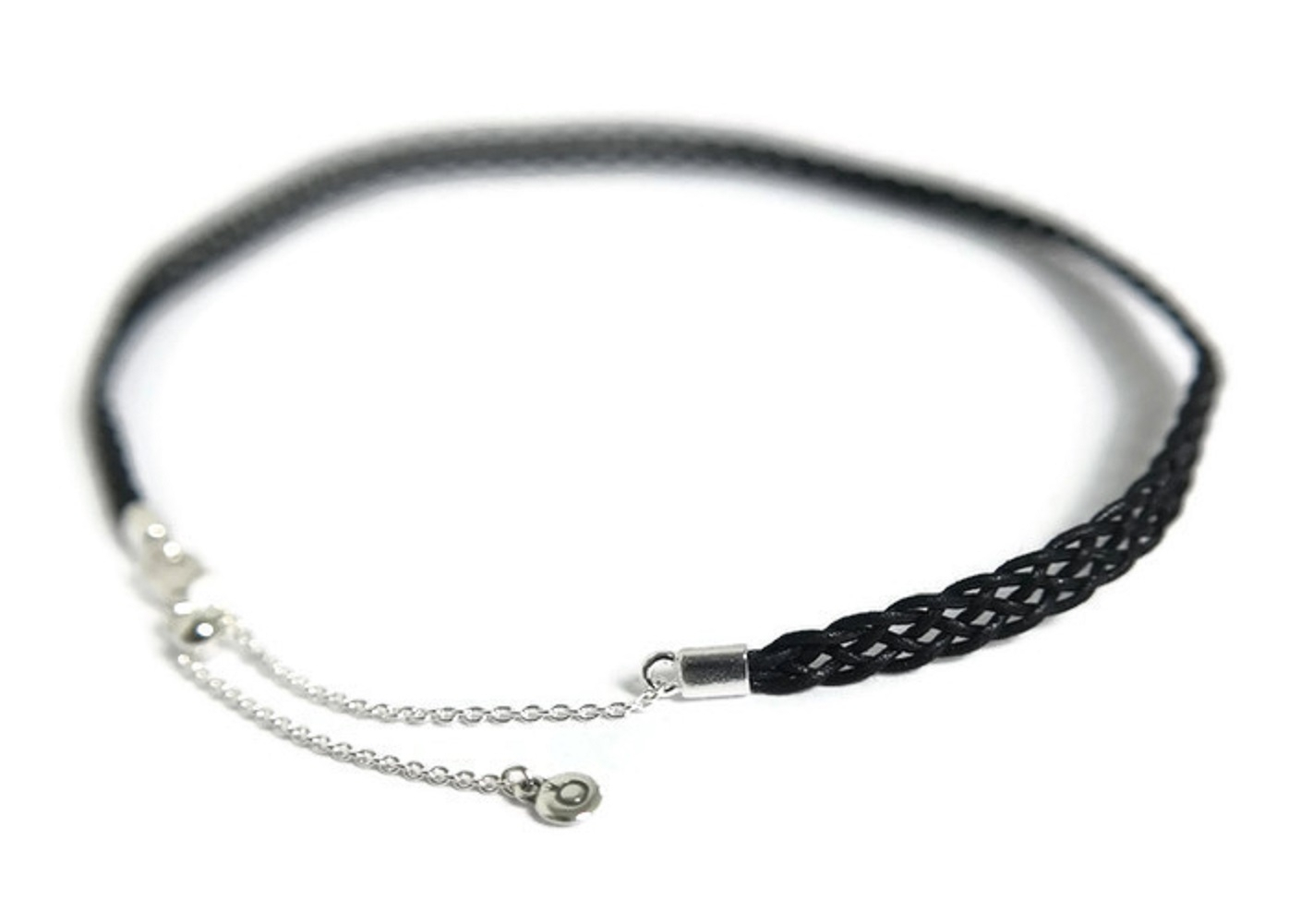 Authentic Woven Fabric Choker, Black 590543Cbk 32, 12.6 In (Adjustable) Intended For Recent Woven Fabric Choker Slider Necklaces (Gallery 23 of 25)