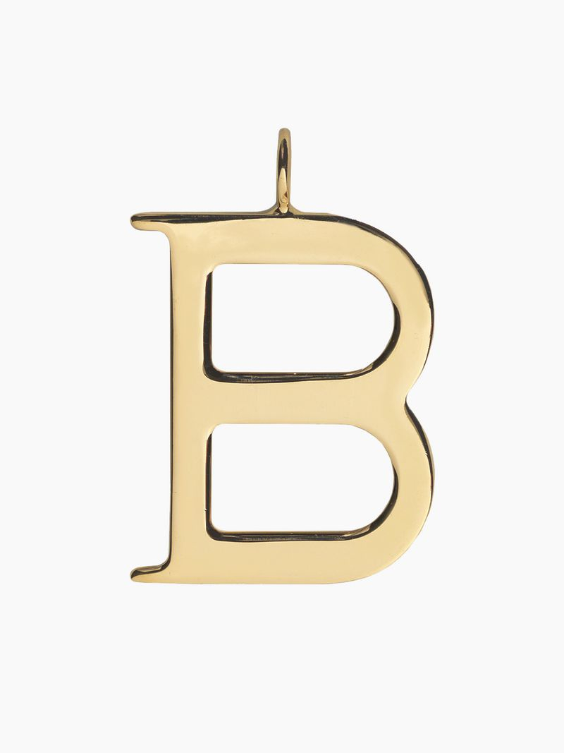 B Alphabet Necklace Pendant | Chloé Bg With Regard To 2019 Letter B Alphabet Locket Element Necklaces (Gallery 25 of 25)