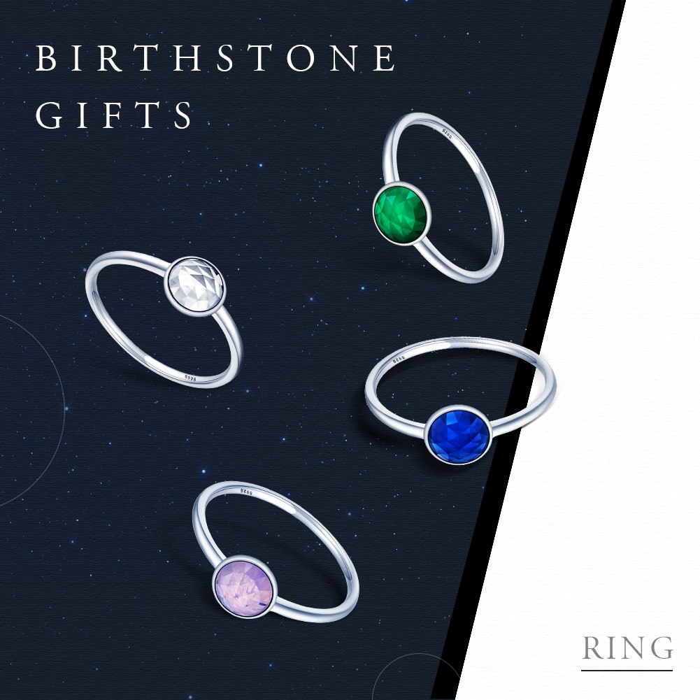 Bamoer Genuine 925 Sterling Silver October Birthstone Droplet, Opalescent  Pink Crystal Finger Ring Women Wedding Jewelry Throughout Most Up To Date Opalescent Pink Crystal October Droplet Pendant Necklaces (View 6 of 25)