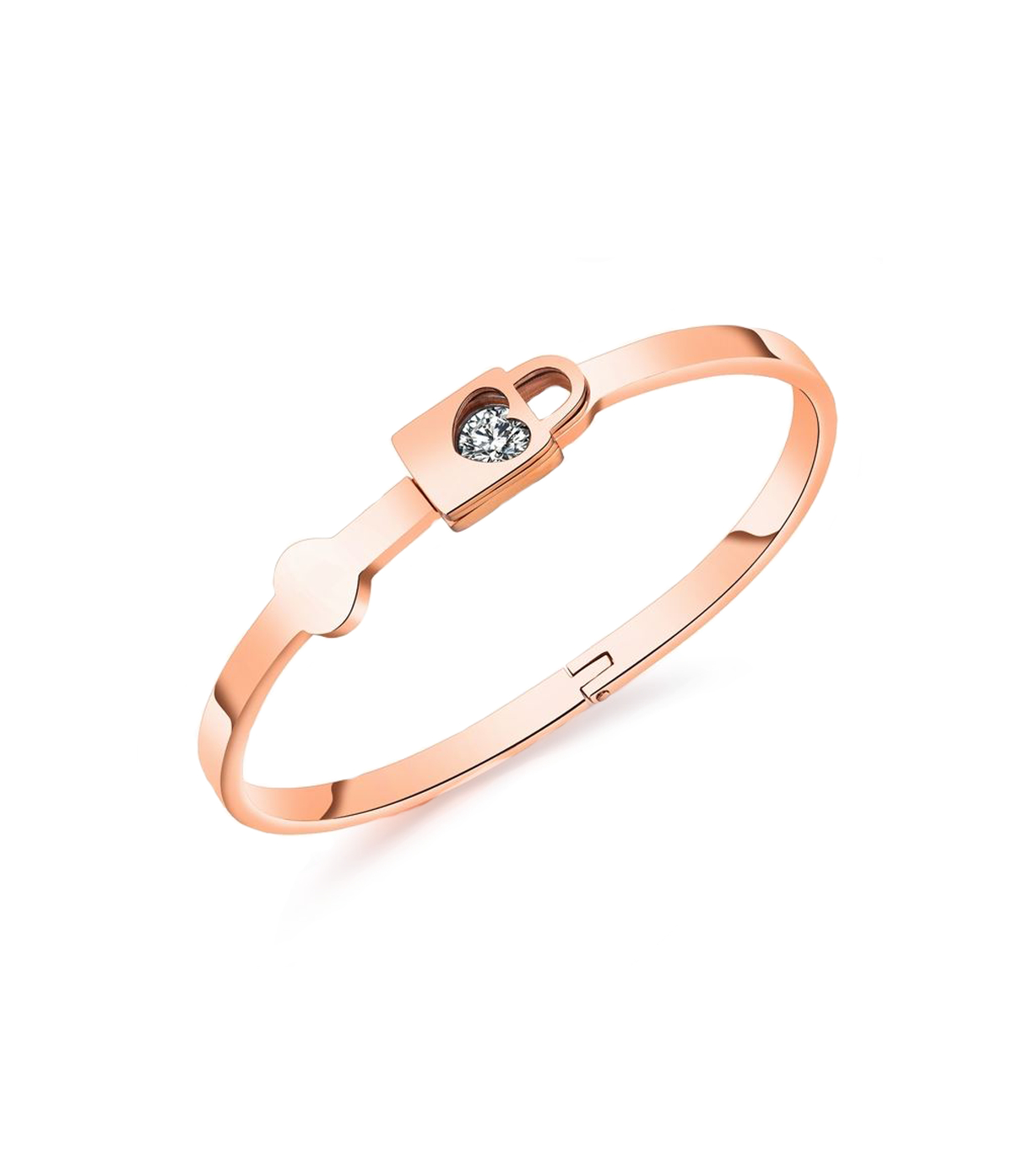 Bangle With Heart Shaped Padlock In Newest Heart Shaped Padlock Rings (View 10 of 25)