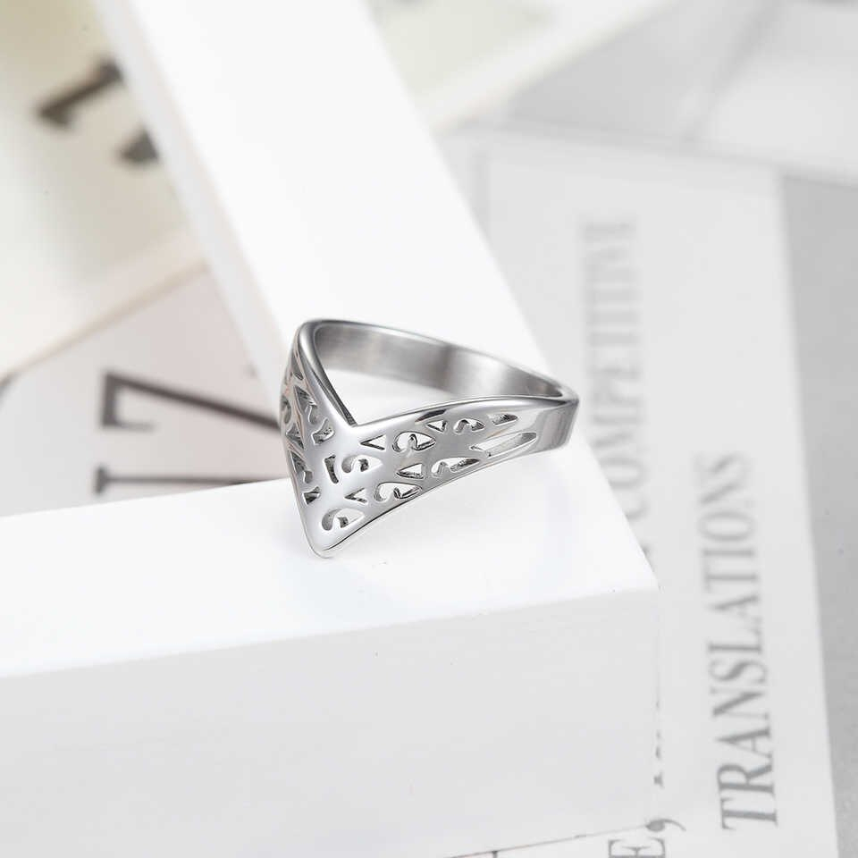 Baolaisi Crown Rings For Women New Geometric Triangle Engagement Ring Fashion Jewelry Trendy Europe Design Wedding Brands Regarding Most Recently Released Geometric Crown Rings (View 5 of 15)