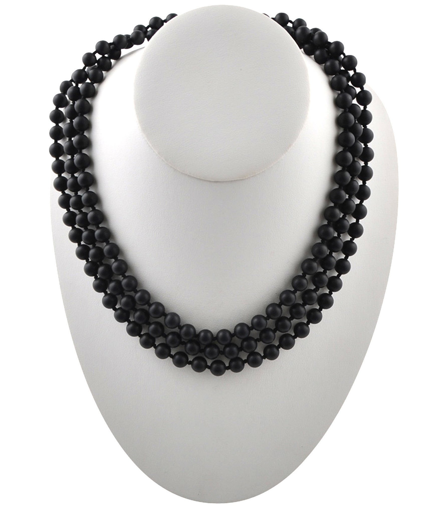 Barse Long Genuine Stone Wrap Necklace For Current String Of Beads Y Necklaces (View 18 of 25)