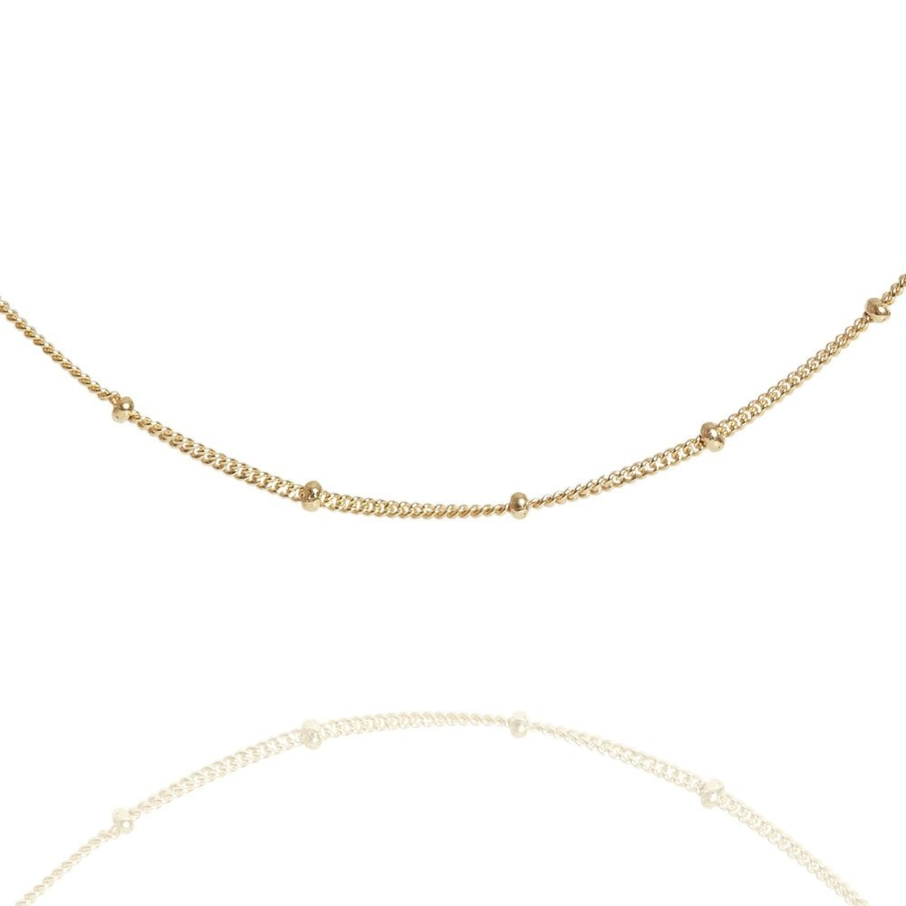 Bead Chain Dainty Choker Necklace With Regard To Best And Newest Beaded Chain Necklaces (View 4 of 25)