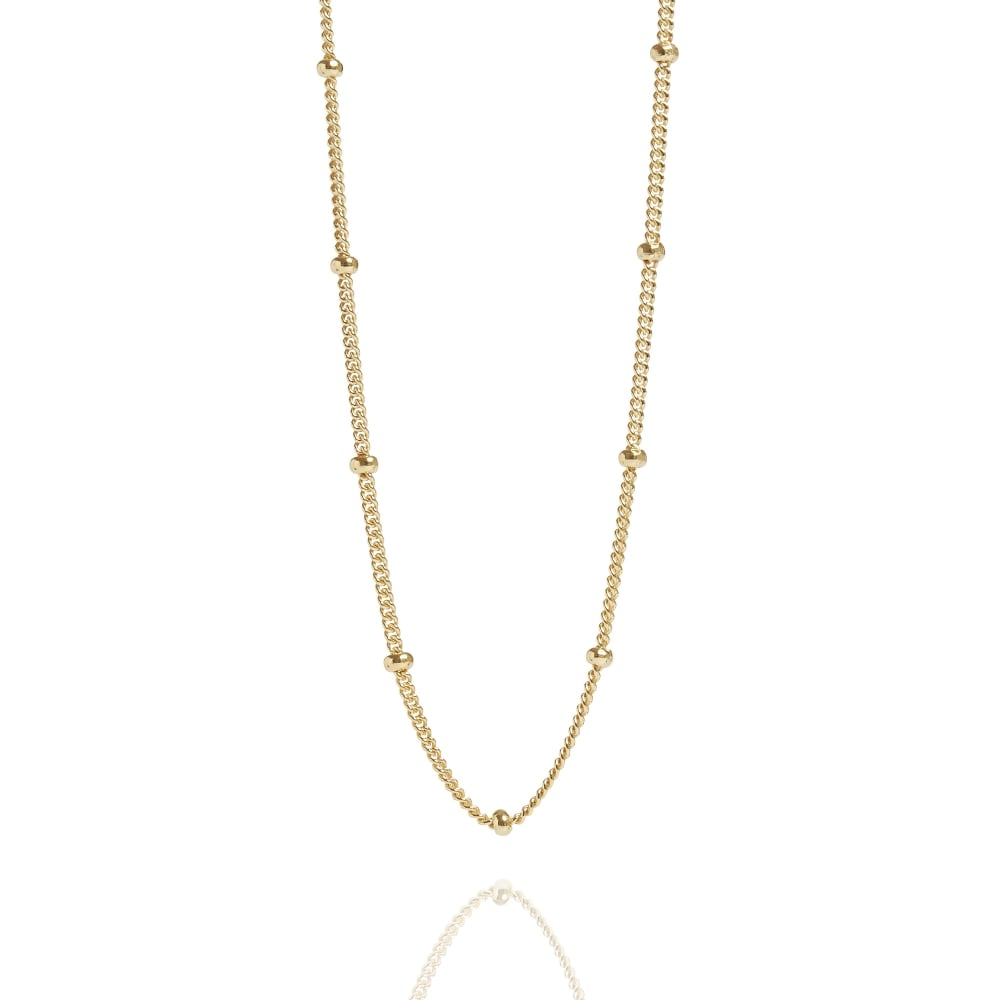 Bead Chain Necklace Gold Throughout Most Up To Date Beaded Chain Necklaces (Gallery 1 of 25)