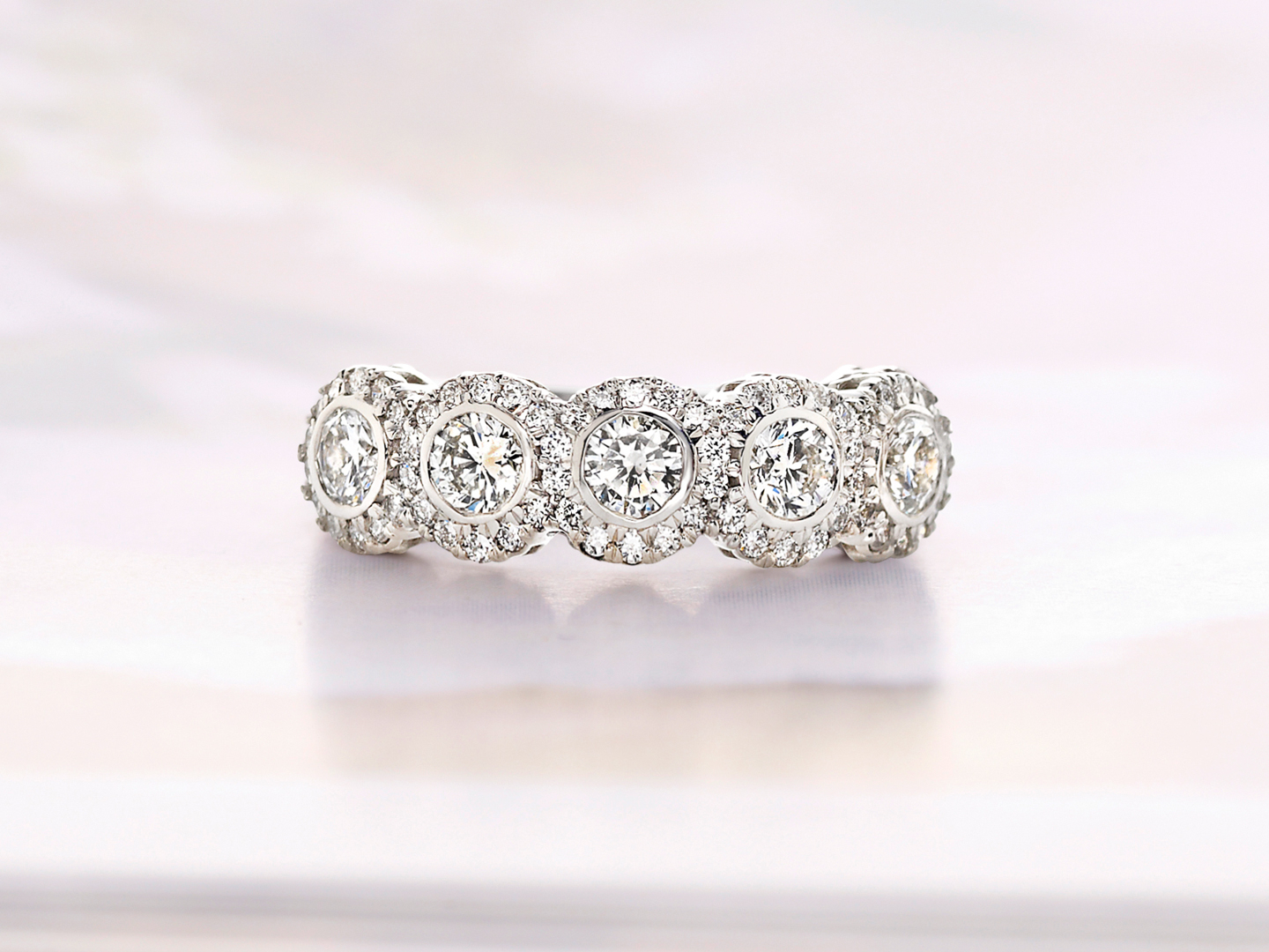 Beautiful Bezel Set Diamond Rings | Brilliant Earth Regarding Best And Newest Princess Cut Diamond Five Stone Anniversary Bands In White Gold (View 15 of 25)