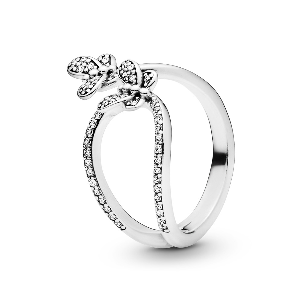 Bedazzling Butterflies Ring | Sterling Silver Inside Current Sparkling Butterfly Open Rings (Gallery 1 of 25)
